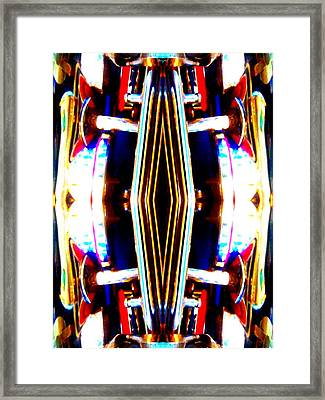 Race Car Framed Print by Rom Galicia