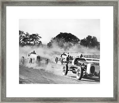 Race Car Scene Framed Print by Madison Lacy