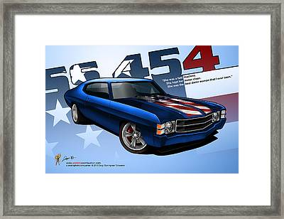 Race Chevelle Framed Print