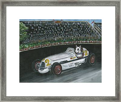 Race Day Framed Print by Kim Arre-gerber