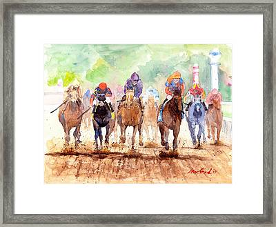 Race Day Framed Print by Max Good