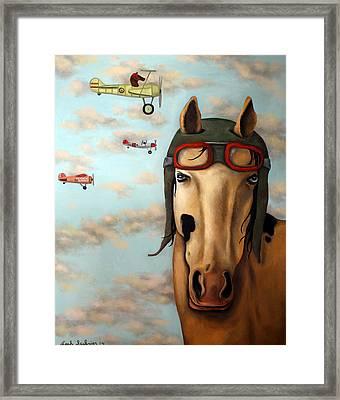 Race Horse Edit 2 Framed Print by Leah Saulnier The Painting Maniac