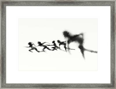 Race Framed Print by Len YewHeng