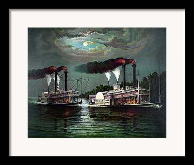 Paddle Steamer Framed Prints