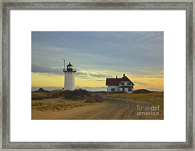 Race Point Lighthouse At Sunset Framed Print