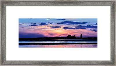 Race Point Lighthouse Silhouette  Framed Print