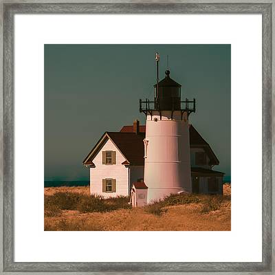 Race Point Lighthouse Square Art Print Framed Print by Dapixara