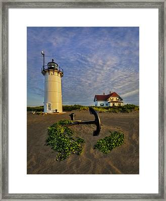 Race Point Lighthouse Framed Print by Susan Candelario