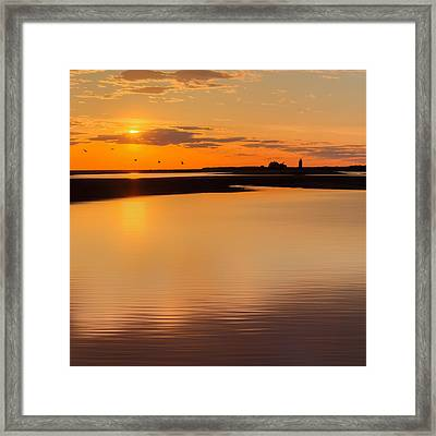 Race Point Silhouette Square Framed Print