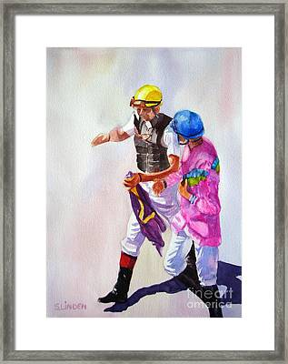 Race Rehash Framed Print
