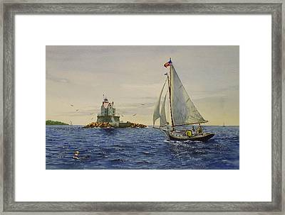 Race Rock Light To The Windward Framed Print