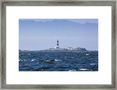 Race Rocks Lighthouse Is Situated Framed Print by Debra Brash