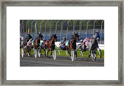 Race To The Finish Framed Print