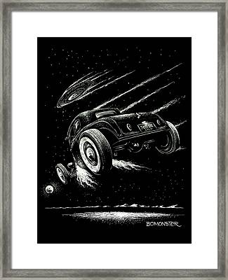 Race To The Moon IIi Framed Print by Bomonster