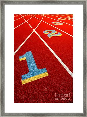 Race Track  Framed Print by Olivier Le Queinec
