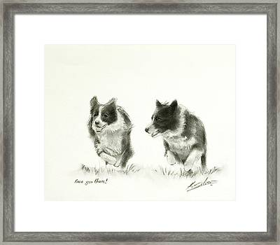 Race You There Framed Print by John Silver