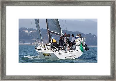 Racer X Farr 36 Framed Print by Steven Lapkin