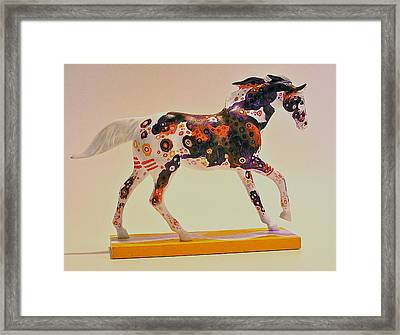 Races The Storm Right Side Framed Print by Bob Coonts