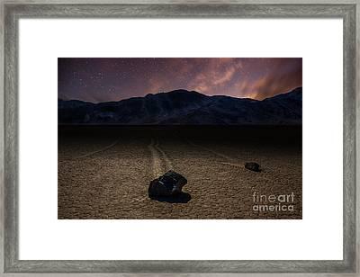 Racetrack Playa Framed Print by Deryk Baumgaertner