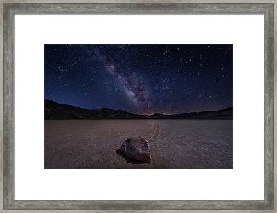 Racetrack To Milky Way Framed Print