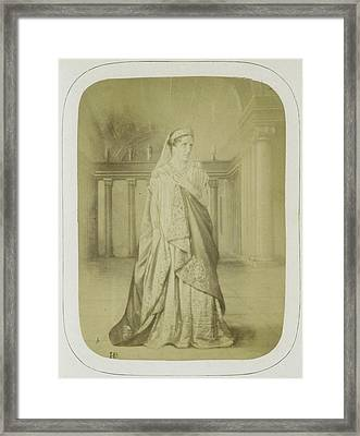 Rachel In The Role Of Phedre In Phedre, Act II Framed Print