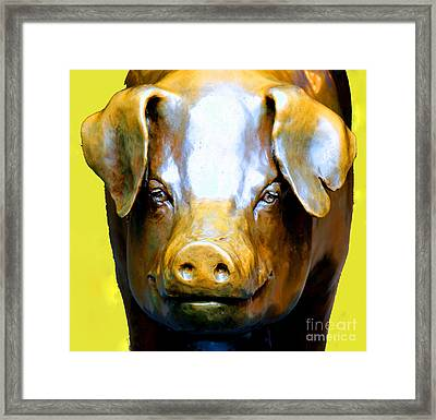 Rachel - Pike Market Piggy Bank Seattle Washington  Framed Print by Tap On Photo