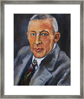 Rachmaninov Framed Print by Becky Kim