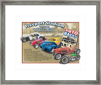Racing At Freeport Framed Print