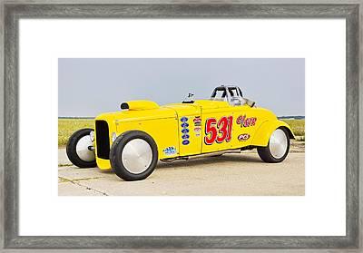 Racing At Maxton Framed Print