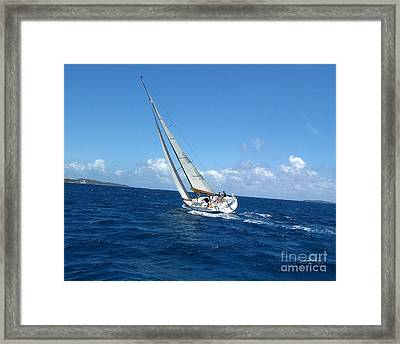 Racing At St. Thomas 2 Framed Print