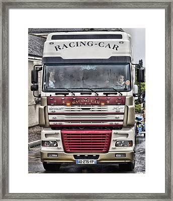 Racing-car Framed Print by Mick Flynn