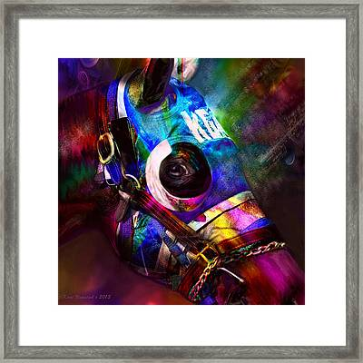Racing Colors Framed Print