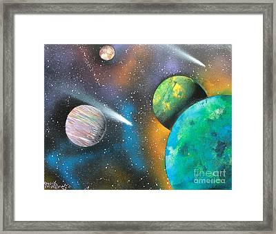 Racing Comets Framed Print by Greg Moores