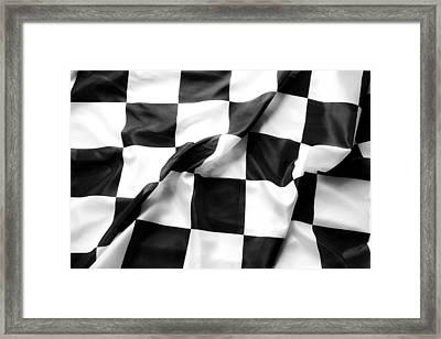 Racing Flag Framed Print