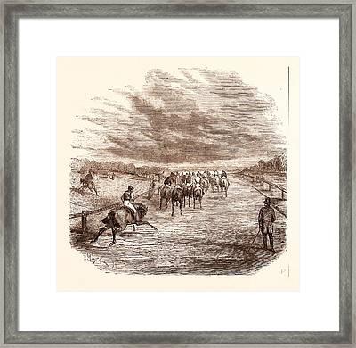 Racing, Horse, Jockey, Race, Thoroughbred, Derby Framed Print
