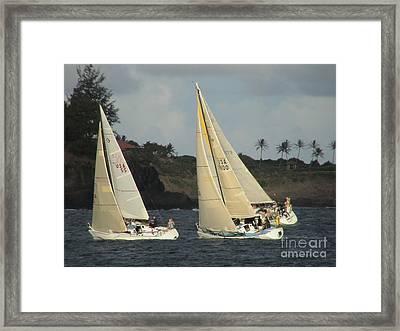 Racing In Kauai Framed Print