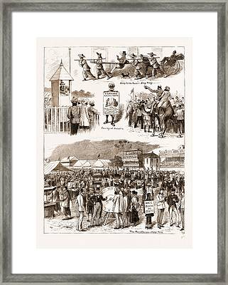 Racing In The East Turf Notes At Umballa And Hong Kong Framed Print by Litz Collection