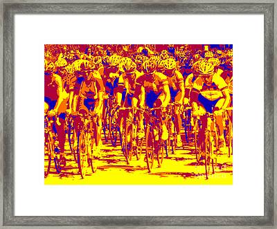 Racing Pelaton Framed Print by David Bearden
