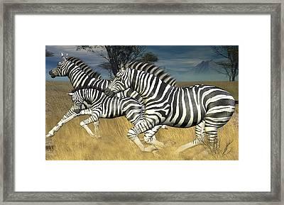 Framed Print featuring the digital art Racing Stripes by Jayne Wilson
