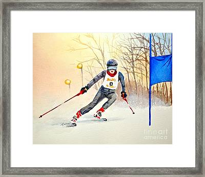 Racing The Sun Framed Print by Andrea Timm