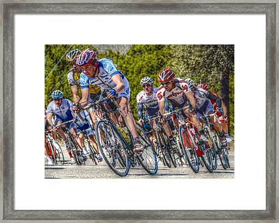 Racing To Live Framed Print by Linda Unger