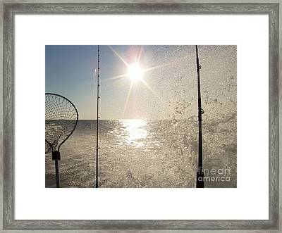 Racing To The Fishing Grounds Framed Print by John Telfer