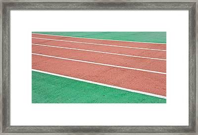 Racing Track Framed Print