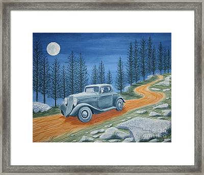 Framed Print featuring the painting Racing Was Born In North Carolina by Stacy C Bottoms