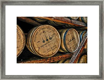 Rack House Woodford Reserve Framed Print by Allen Carroll