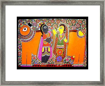 Radha And Krishna Framed Print
