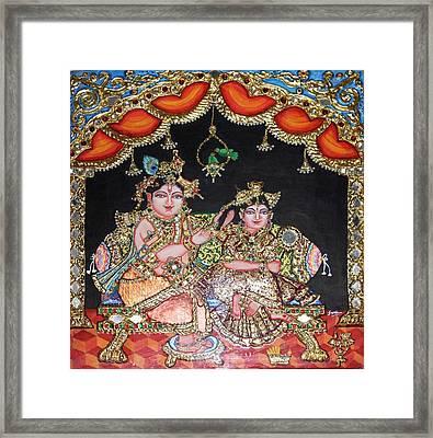 Radha Krishna Framed Print by Jayashree