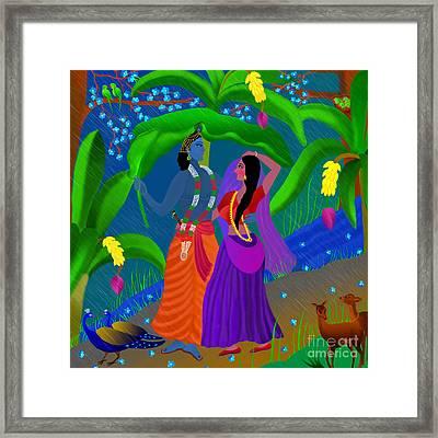 Radha Likes Rain Framed Print