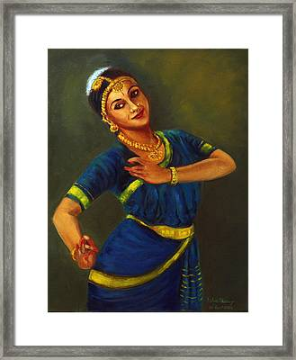 Radha Playing Krishna Framed Print
