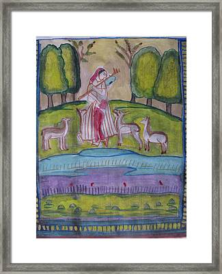 Framed Print featuring the painting Radha by Vikram Singh